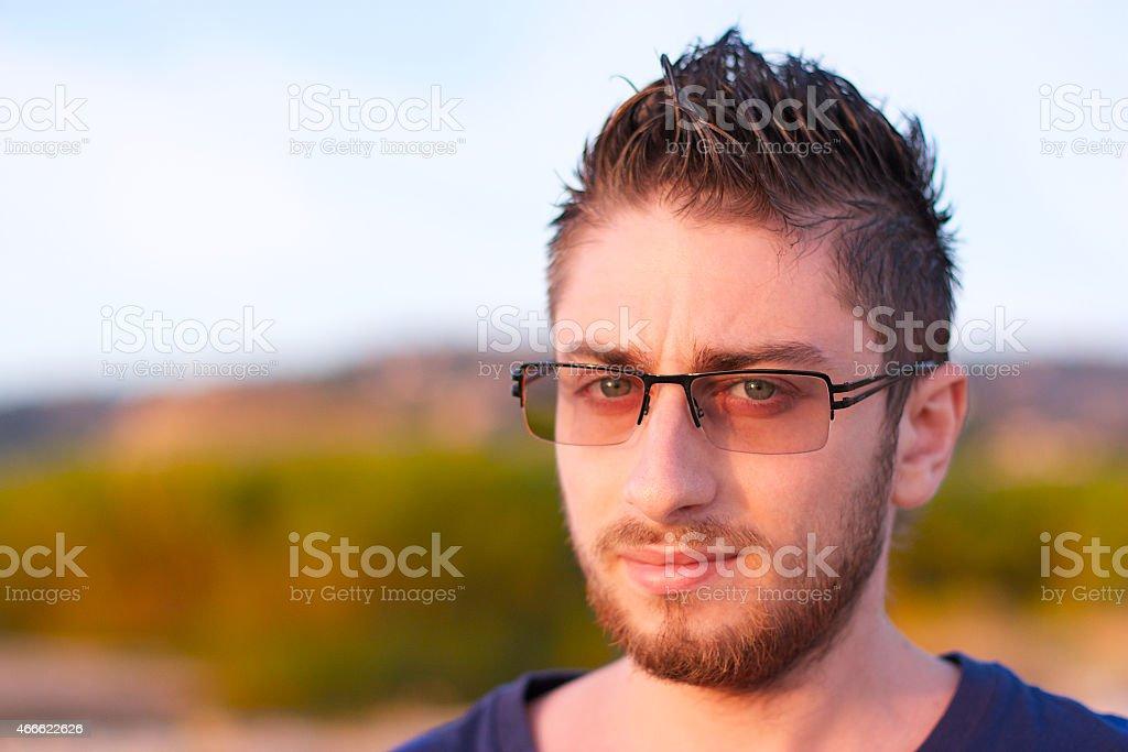 Lo sguardo di un ragazzo stock photo