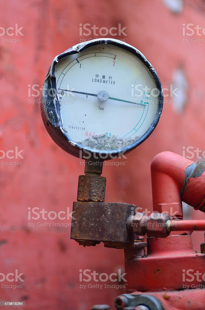 Load meter with ton unit stock photo
