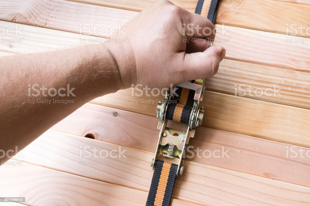 Load securing stock photo