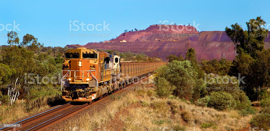 Loaded Ore stock photo