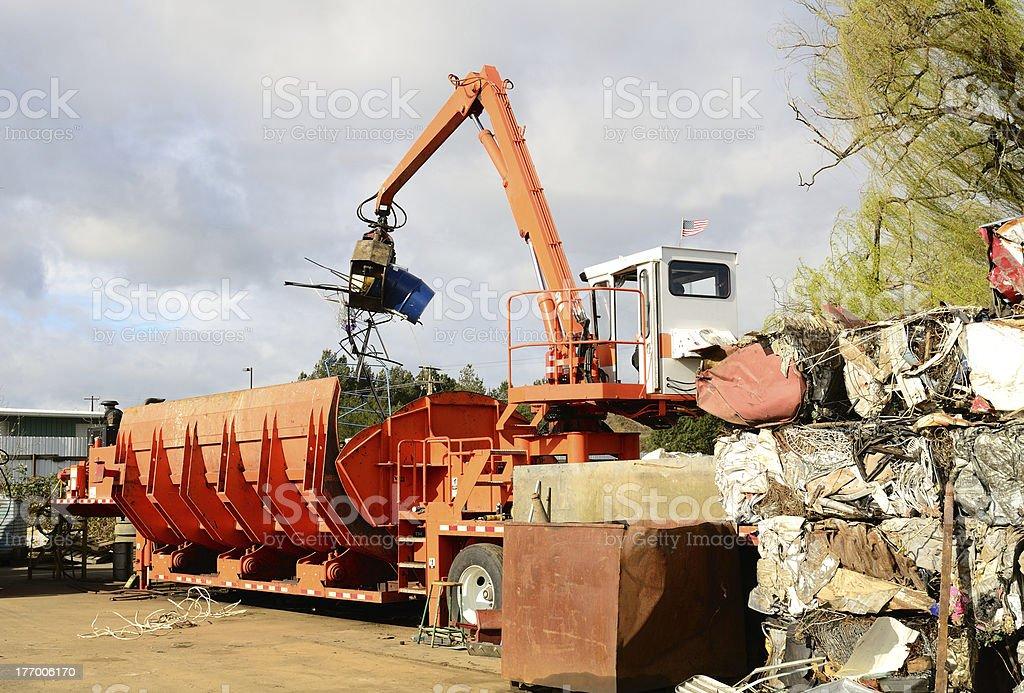Loader Crusher stock photo