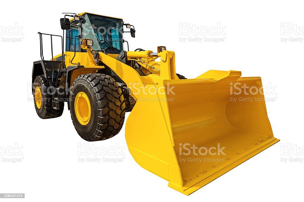 Lader Bagger Baumaschine-Ausstattung, isoliert mit – Foto