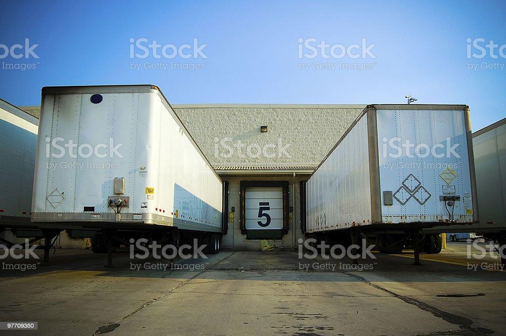 Loading Bay stock photo