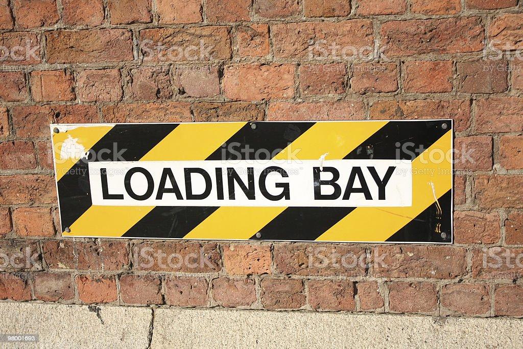 Loading Bay Sign royalty free stockfoto