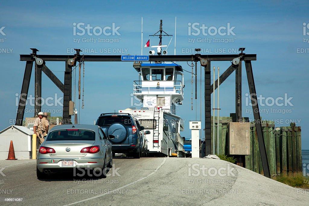 Loading Car Ferry stock photo