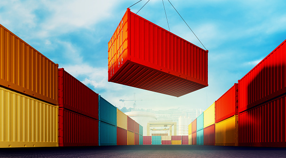 Loading Container Stock Photo - Download Image Now