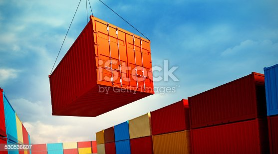 697974610 istock photo Loading container 530536607