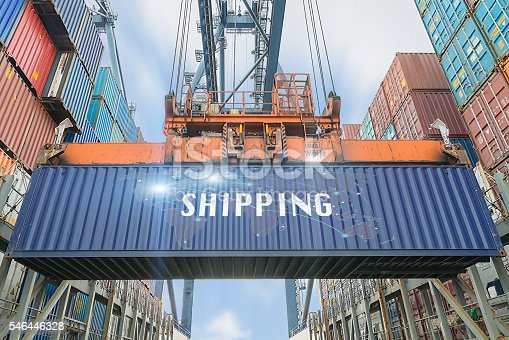 638310484 istock photo Loading containers box from cargo freight ship 546446328