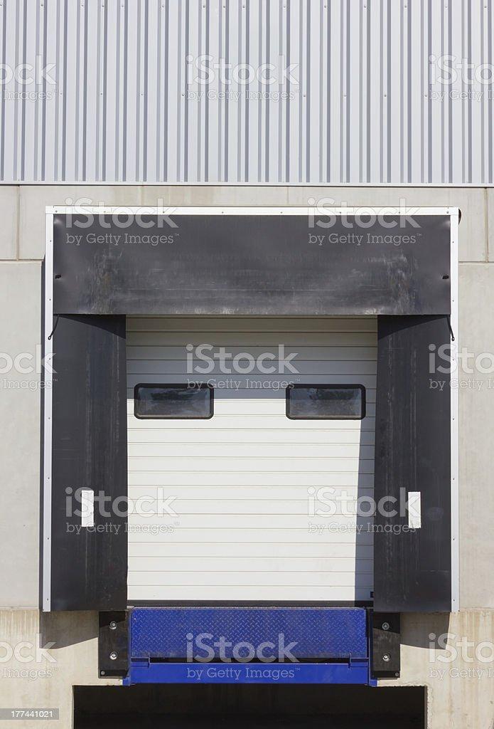Loading dock cargo doors royalty-free stock photo