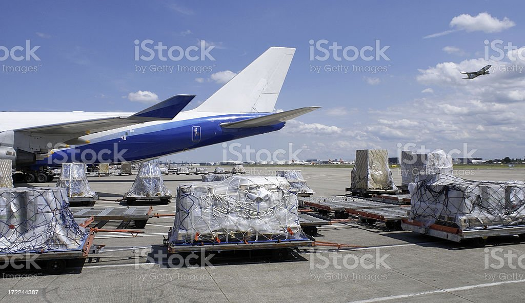 Loading dock on airport royalty-free stock photo