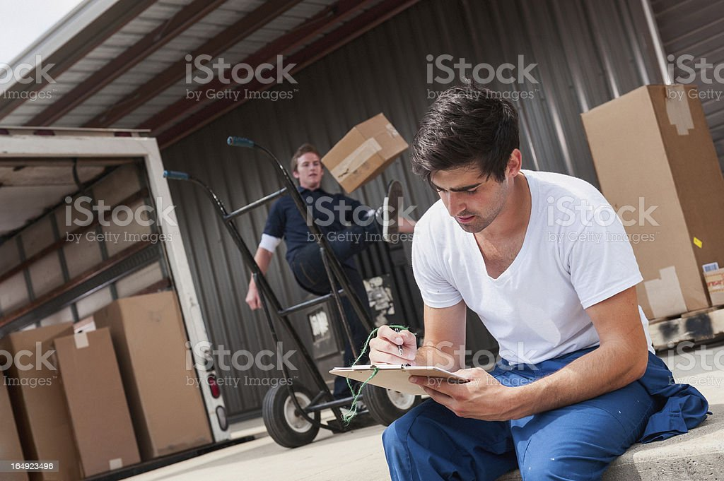 Loading Dock Workers royalty-free stock photo