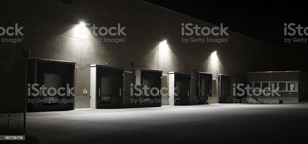 Loading docks at warehouse (HDR) stock photo