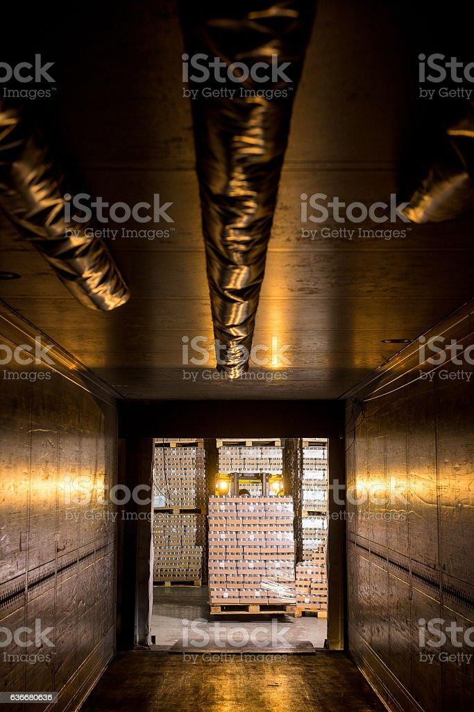 loading empty truck stock photo