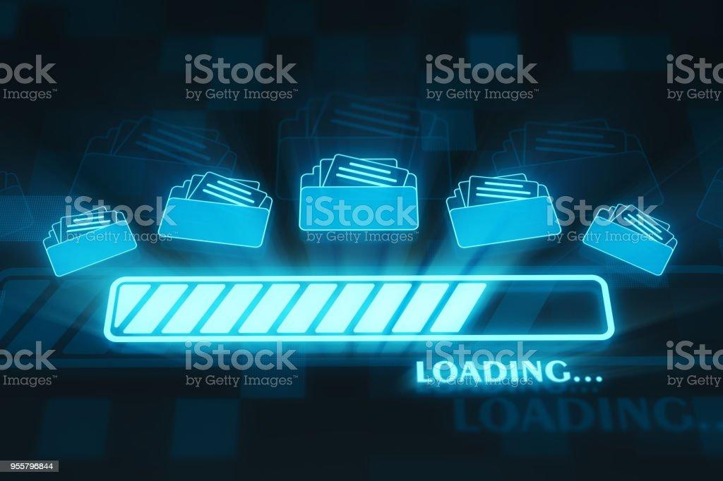 Loading folders stock photo