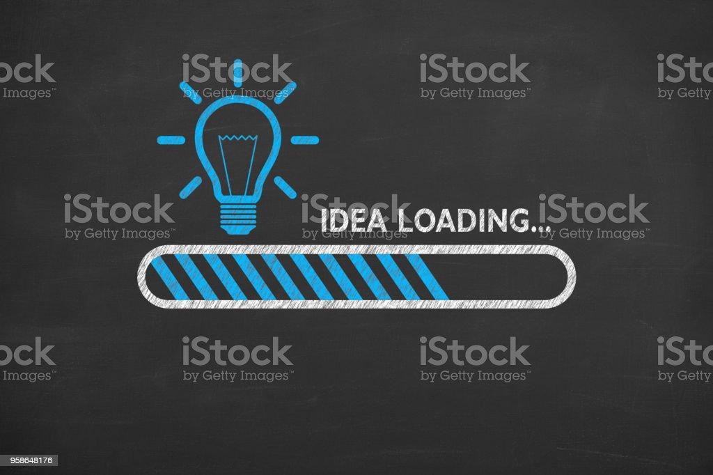 Idea de la carga en pizarra - foto de stock