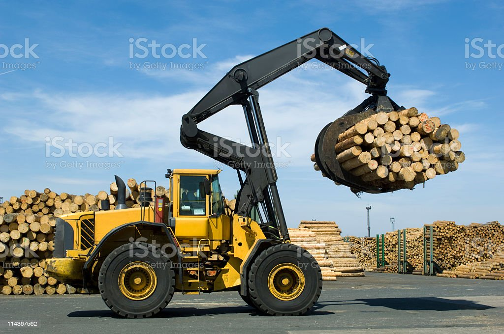Loading lumber royalty-free stock photo