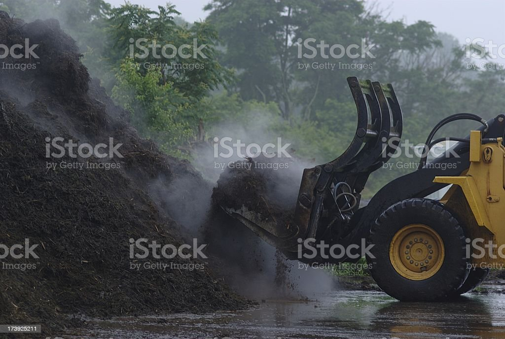Loading Mulch - Royalty-free Agricultural Equipment Stock Photo