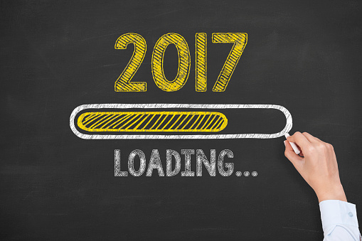 istock Loading New Year 2017 on Chalkboard Blackboard 614739850