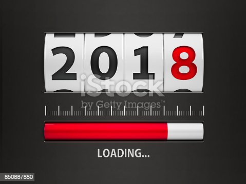 istock Loading New year 2018 counter 850887880