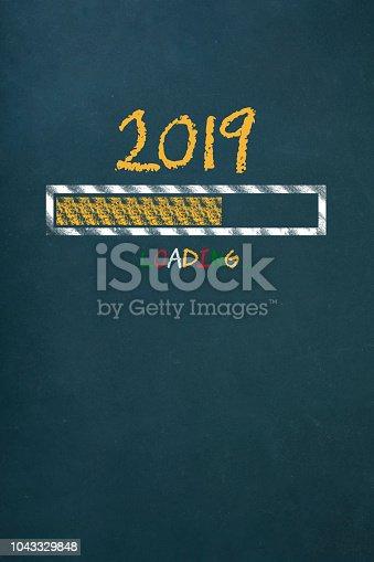 istock Loading New Year 2019 on Chalkboard 1043329848
