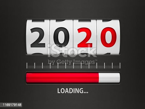 istock Loading New year 2020 counter 1169179148