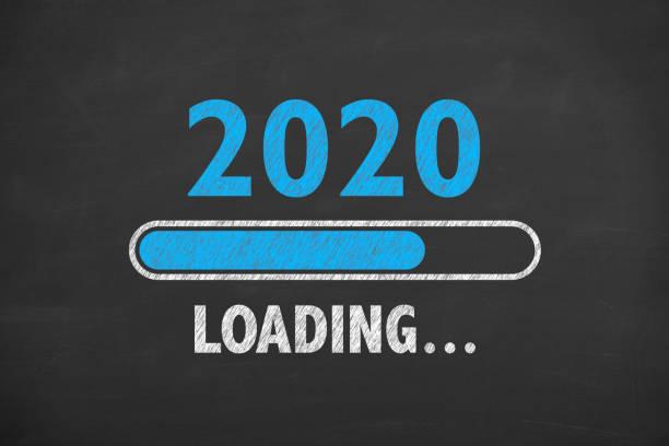 Laden des neuen Jahres 2020 auf Blackboard – Foto