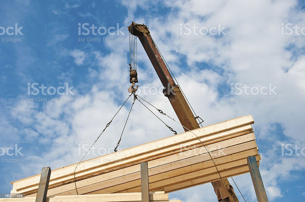 loading of boards royalty-free stock photo
