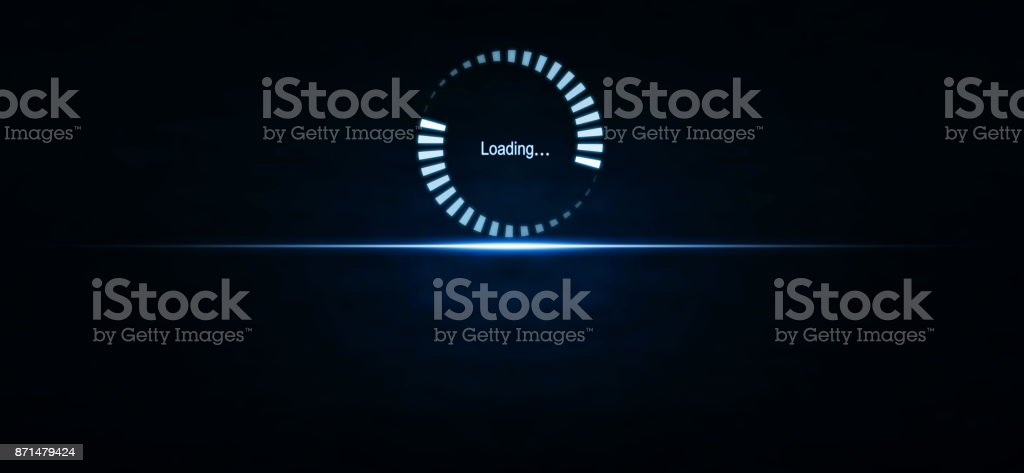 Loading stock photo
