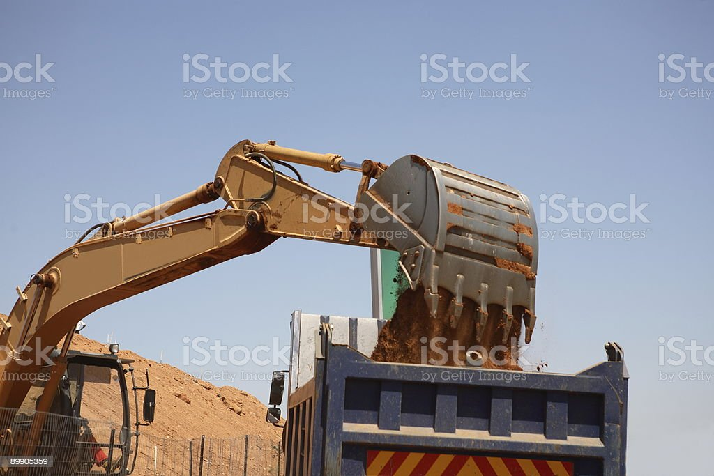 Loading Sand - Royalty-free Color Image Stock Photo
