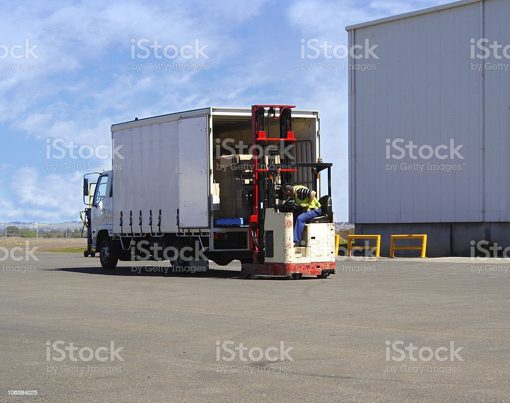 Loading truck stock photo
