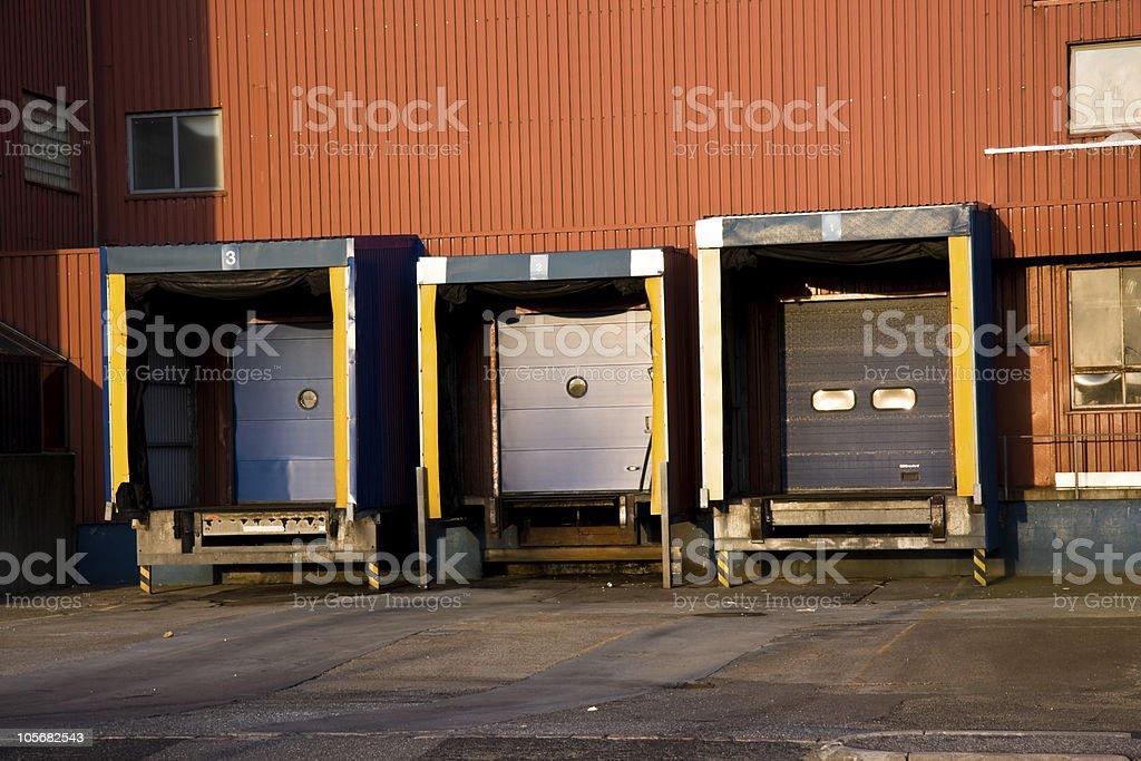 Loading / Unloading Docks royalty-free stock photo