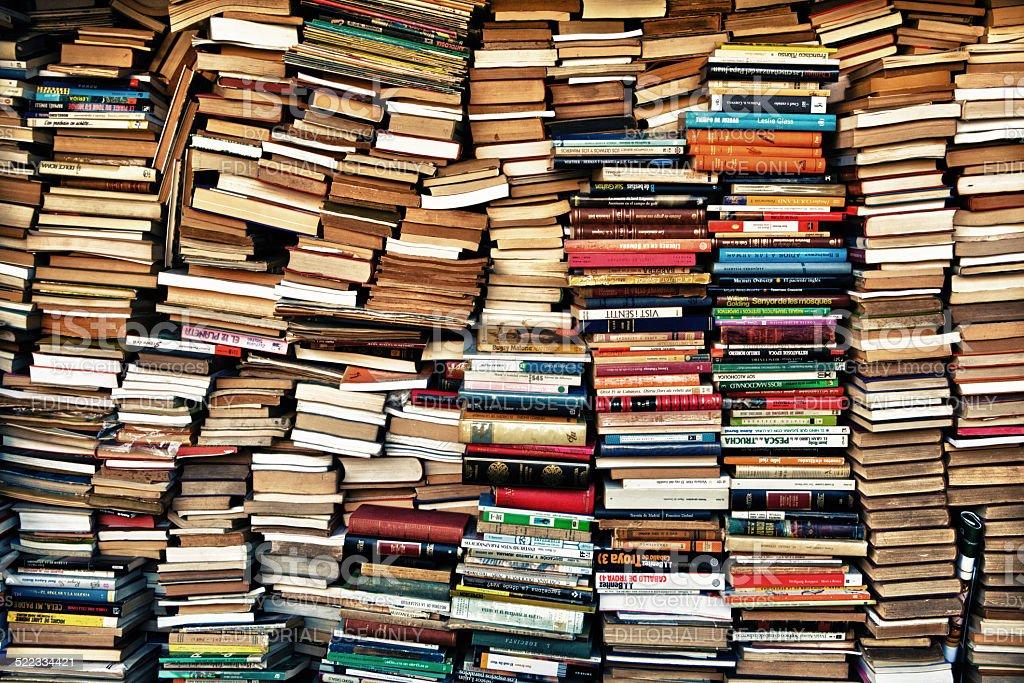 Loads of books stock photo