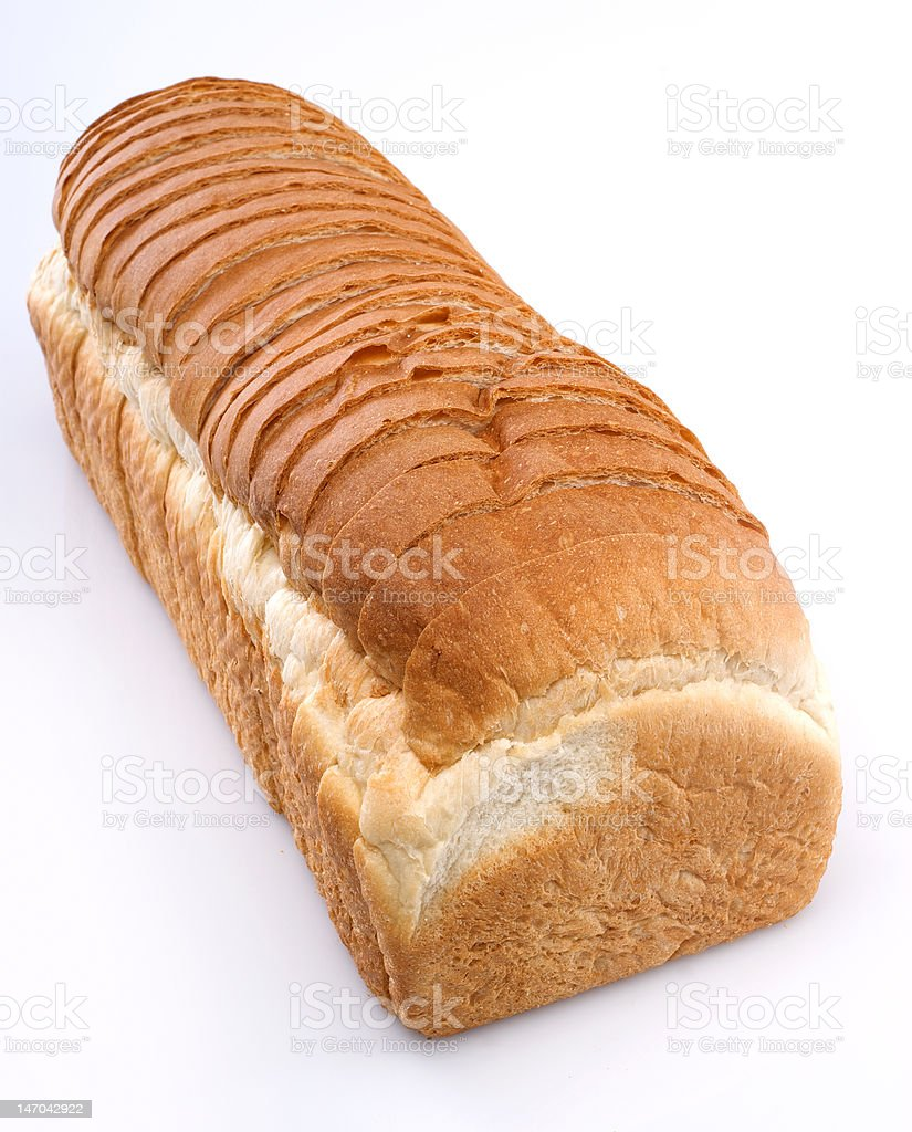 Loaf of  Bread isolated on white background royalty-free stock photo