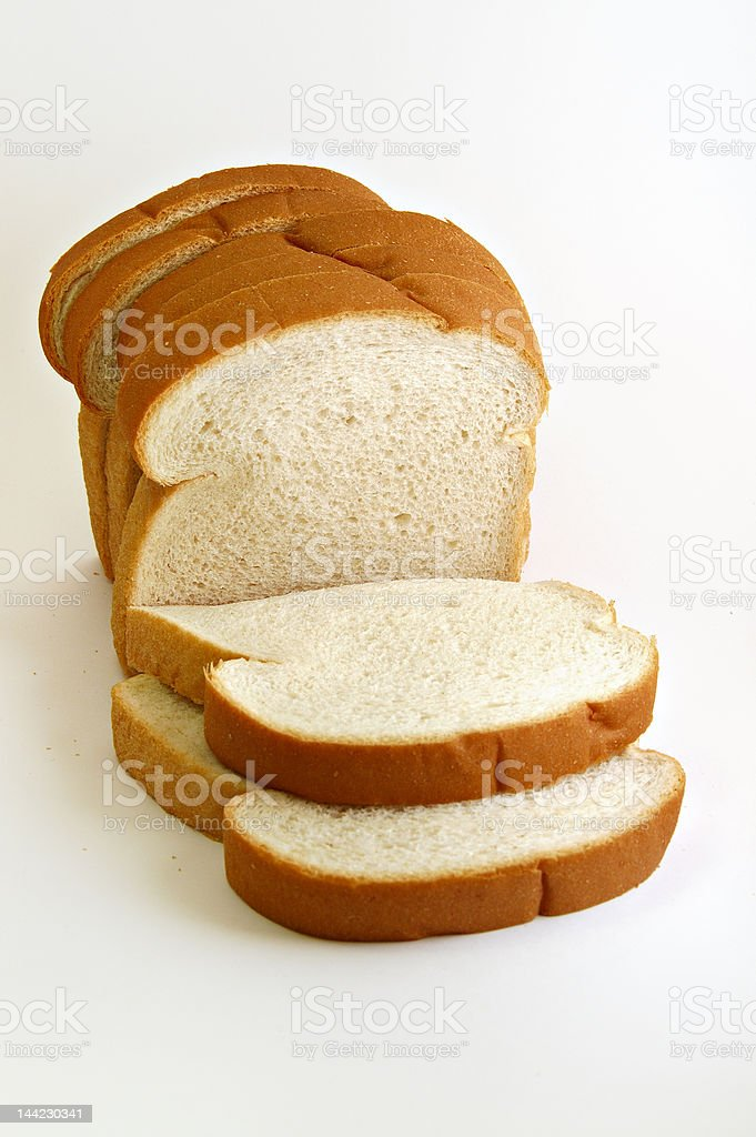 Loaf of Bread on white background royalty-free stock photo