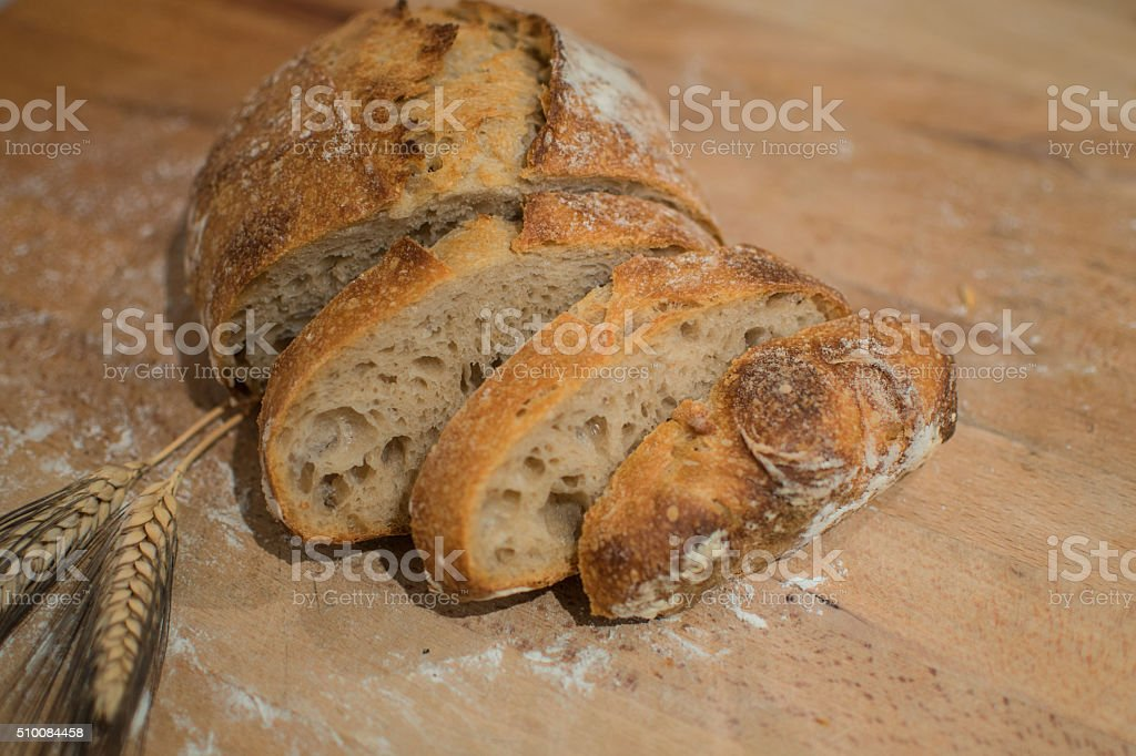loaf of bread stock photo