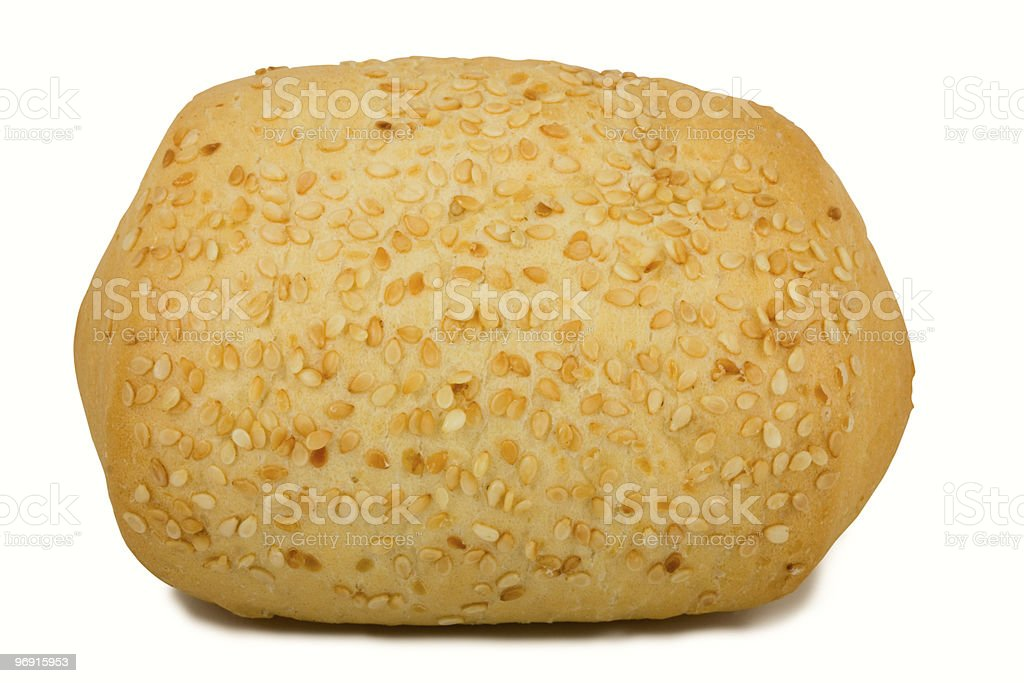 Loaf of bread with sesame royalty-free stock photo