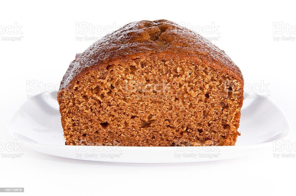 Loaf of freshly baked pumkin bread stock photo