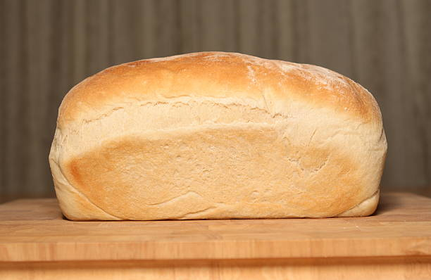 Loaf of home made white bread
