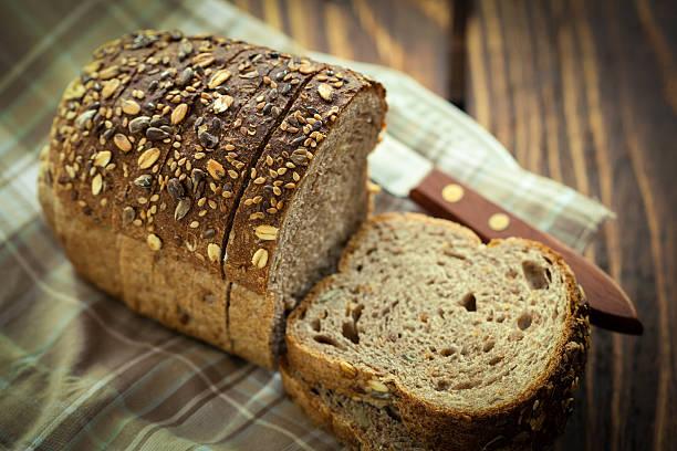 Loaf of Multigrain Bread stock photo