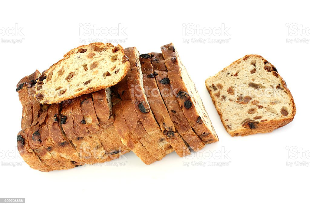Loaf of Raisin Bread stock photo