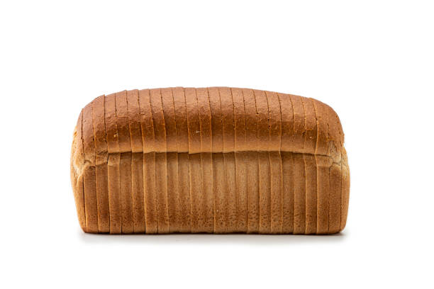 Loaf of sliced White Bread stock photo