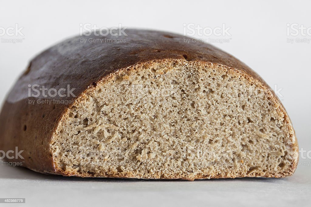 loaf of traditional Russian rye hearth bread royalty-free stock photo