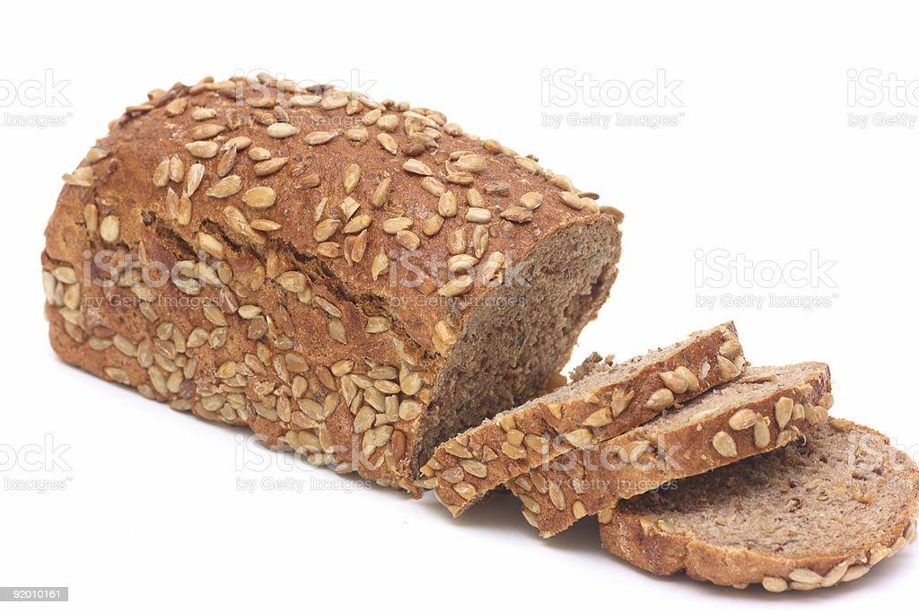 Loafs of black bread stock photo