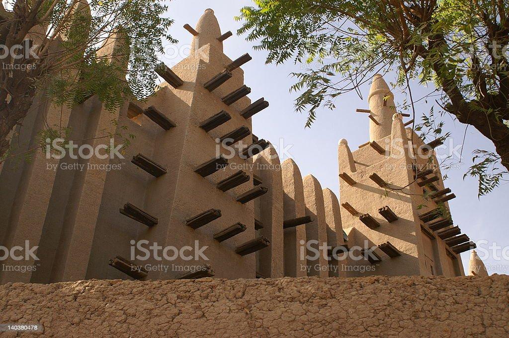 Loam mosque of Mopti royalty-free stock photo