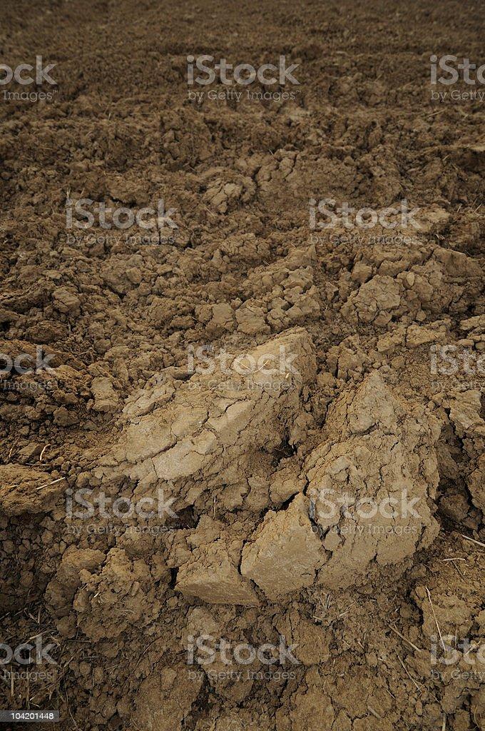 Loamy soil stock photo