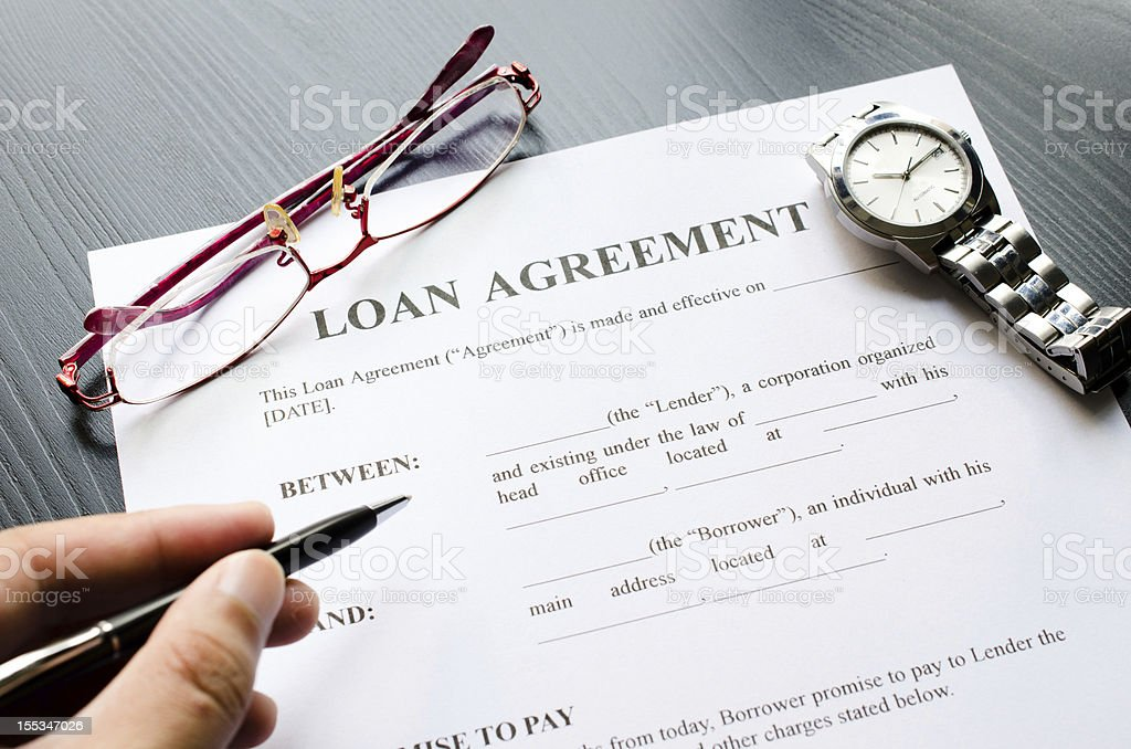 loan agreement royalty-free stock photo