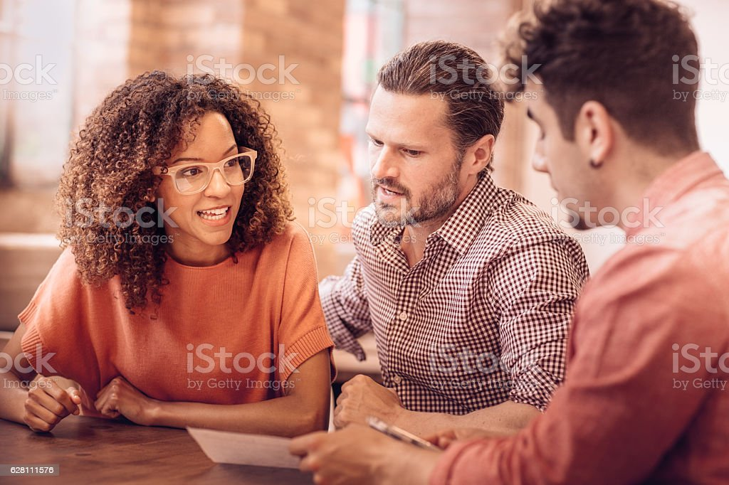 Loan and mortgage at the same moment stock photo