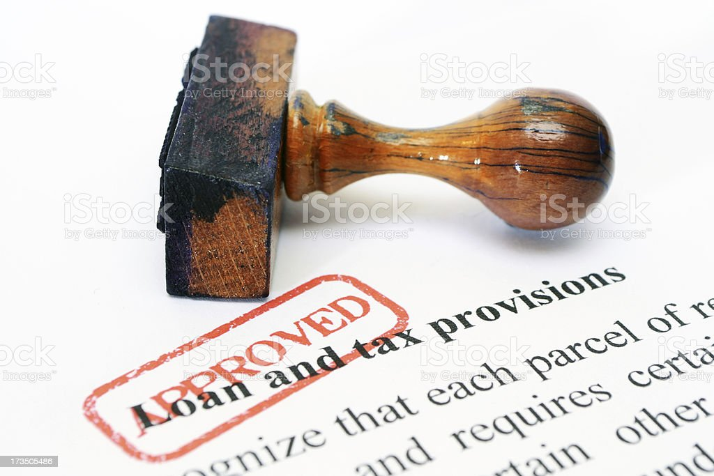 Loan and tax approved royalty-free stock photo