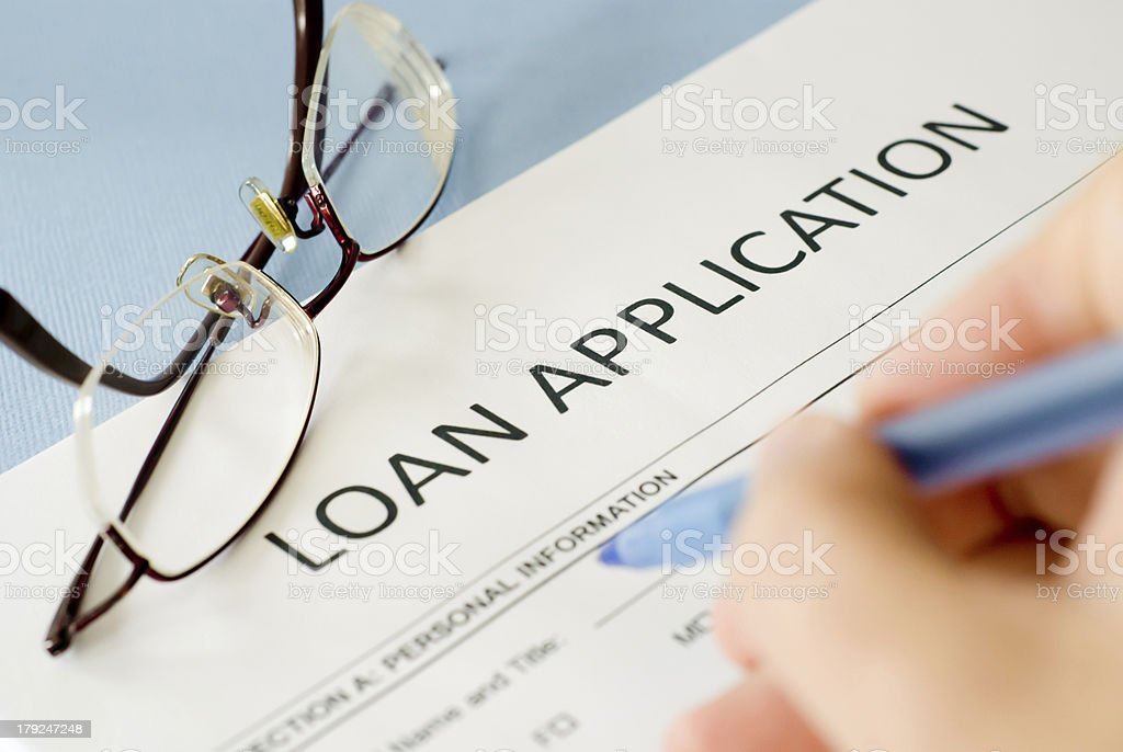 loan application form royalty-free stock photo