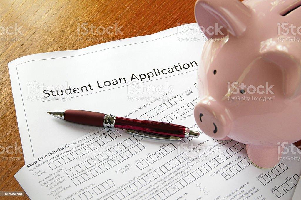 Loan application royalty-free stock photo
